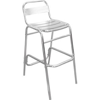 Garden / Patio Bar Stool / Chair with Back Aluminium (Pack 4) - stylish  sc 1 st  Amazon UK & Garden / Patio Bar Stool / Chair with Back Aluminium (Pack 4 ... islam-shia.org