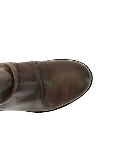 Tacón Piel SHOES En Botines mainapps marrón Negro Tobilleros ZETA artigianali Medio TdXqBIB