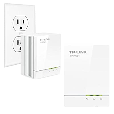TP-LINK AV600 Powerline Adapter Starter Kit, Up to 600Mbps, Gigabit Ports, Plug and Play, Power Saving Mode (TL-PA6010KIT AV600)