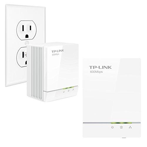 TP-Link AV600 Powerline Adapter Starter Kit, Up to 600Mbps,