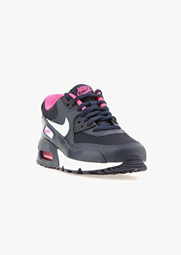 Nike Air Max 90 Mesh (GS) Schuhe obsidian-pure platinum-hyper pink-white - 35,5