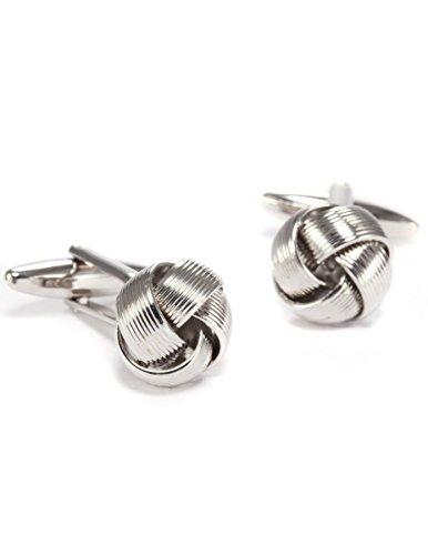 KS - KSC006 Mens Cufflinks, Silver, Copper, Spherical