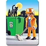 Cleaning people and Playmobil 3196 city life Trash (Japan import / The package and the manual are written in Japanese)