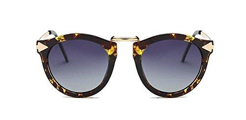 du soleil polarisées retro Feuille Dégradé style B inspirées lunettes cercle rond vintage de de métallique en Lennon HxIERF