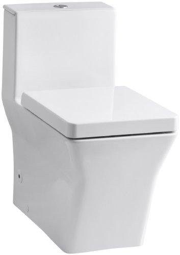 chic KOHLER K-3797-0 Reve Elongated Toilet with Dual Flush Technology, White