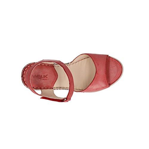 Donna 019091 Zeppa Walk Scarpe Melluso Rosso Sandali RIYFxF