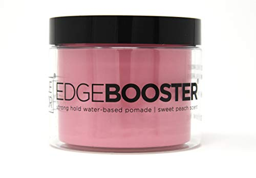 - Style Factor [Big Jar] EDGEBOOSTER strong hold water-based pomade 9.46 fl oz. #sweet peach scent
