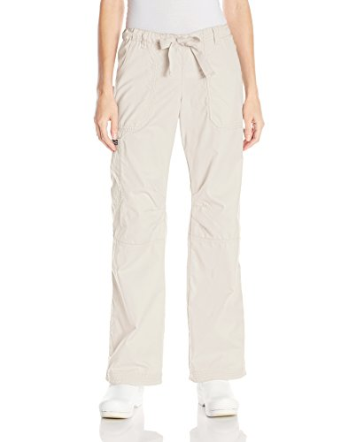 Koi Women's Lindsey Ultra Comfortable Cargo Style Scrub Pants, Stone, X-Large Collection Featuring Stone