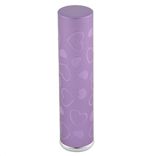 DealMux Travel Portable Love Heart Mini Refillable Perfume Spray Bottle Container 7mL Purple