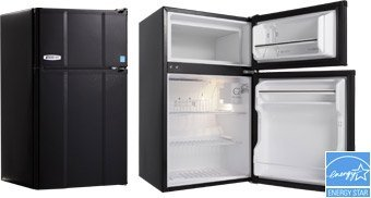 MicroFridge-SnackMate-Refrigerator-True-Freezer-Combo-Appliance44-Black-31-cu-ft