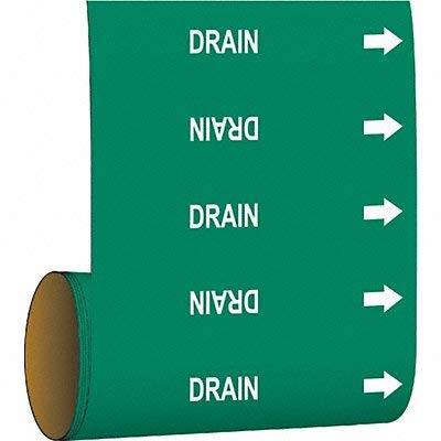 Brady Pipe Marker Drain Green