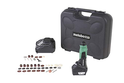 Metabo HPT Cordless Rotary Tool Kit 40-Piece Accessory Set 12-Volt Peak Lithium-Ion Battery Variable Speed LED Light GP10DL