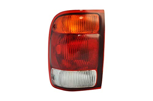 (Left Driver Side Taillight Tail Light Lamp for 1998-1999 Ford Ranger FO2800121 F87Z13405BA - Include The Bulb)