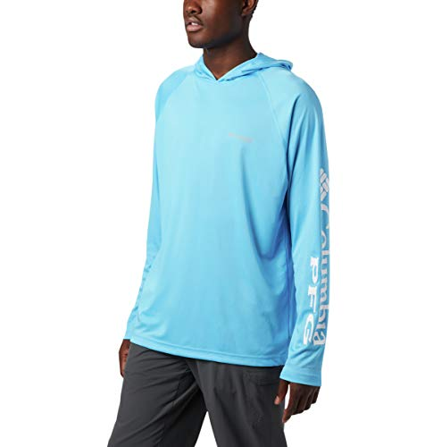 Columbia Men's Standard Terminal Tackle Hoodie, Riptide, White Logo, Large from Columbia