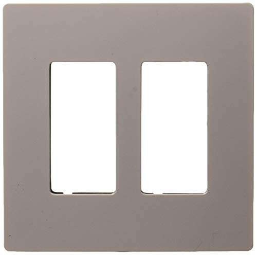 (Legrand - Pass & Seymour radiant RWP262GRY Two-Gang Screwless Wall Plate, Gray)