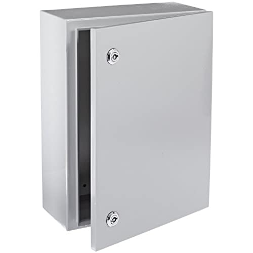 BUD Industries Series SNB Steel NEMA 4 Sheet Metal Box with Mounting Bracket 11-51/64  Width x 15-3/4  Height x 5-29/32  Depth Smooth Gray Finish  sc 1 st  Amazon.com & Sheet Metal Box: Amazon.com