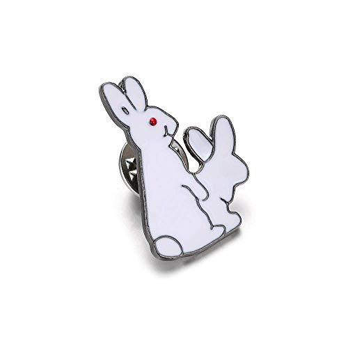 - Creative Brooch Pin Brooch Brooch Fun red eye rabbit oil Brooch Badge Clothing Badge Pin Lapel Pin