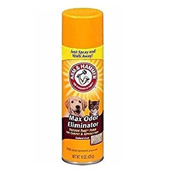 Arm & Hammer Max Odor Eliminator Vacuum Free Foam for Carpet and Upholstery, 15 - Arms Upholstery