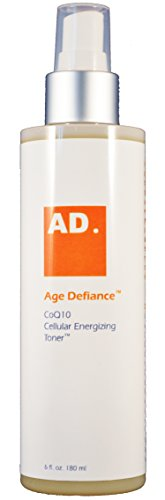 - Age Defiance CoQ10 Cellular Energizing Facial Toner - Essential super-hydrating, natural plant extract formula, non-alcohol, daily face and skin toner.
