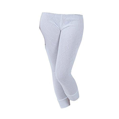 Universal Textiles Ladies Thermal Underwear Long Jane (British Made) (Hip Fit: 34-36inch (8-10)) (White)
