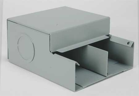 Wiremold G4010DFO Divided Entrance End Fitting Steel Gray For Use With 4000 Series Multi-Channel Surface Raceway