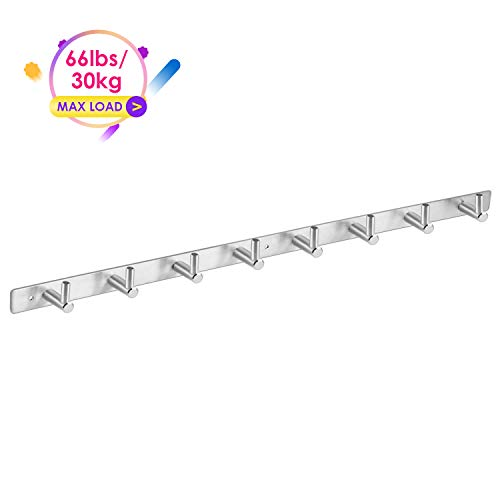 - Amzdeal Wall Mounted Coat Rack - 8 Pegs 24