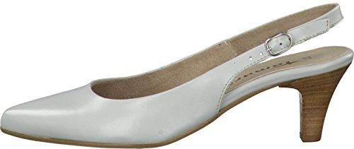Tamaris Womens Shoes 1-1-29608-28 Comfortable Women's Slingbacks, Summer Shoes for Fashion-Conscious Women, Light Grey