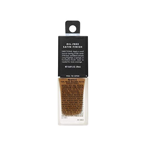e.l.f, Flawless Finish Foundation, Lightweight, Oil-free formula, Full Coverage, Blends Naturally, Restores Uneven Skin Textures and Tones, Maple, Semi-Matte, SPF 15, All-Day Wear, 0.68 Fl Oz