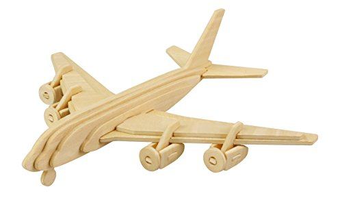 (Hands Craft JP270 DIY 3D Wooden Puzzles (Civil Airplane) )