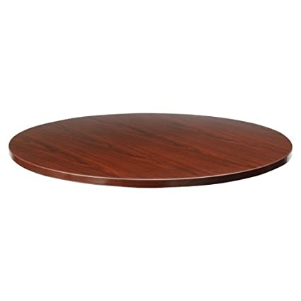 Lorell Round Tabletop, 48 Inch, Mahogany