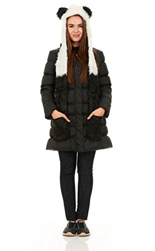 (Faux Fur Full Animal Hood Hoodie Hat 3-in-1, Hat With Spirit Paws Ears)