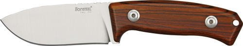 Lion Steel Knives M2CB Hunter Fixed Blade Knife with Brown Cocobolo Wood Handles by Lion Steel