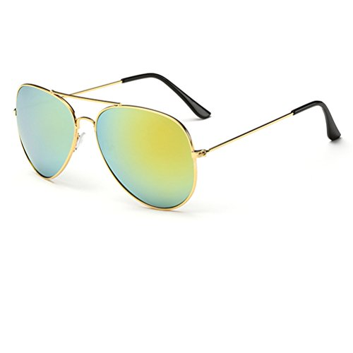 aire 2018 Nuevo Lente Gafas Casual de sol Marcos Moda Al libre Gafas Oro Oro Policromo Unisexo deportivas Vistoso gvqYY1