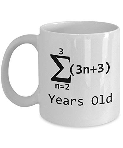 Math Coffee Mug 11 Oz Tea Cup Funny Nerd Gifts Students Women Teachers Sigma Notation 21 Year Old Girl 21th Birthday Ideas For Girls Her