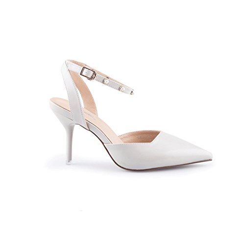 Shoes Dream Heels Fine White Autumn Size Sandals White PU Color Elegant 35 High 6qw86r
