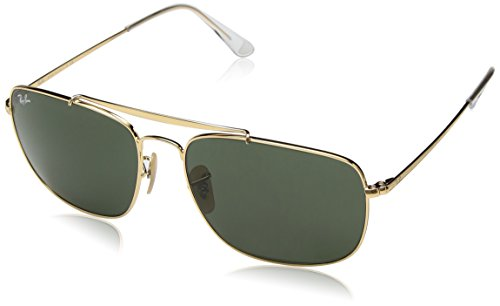 Ray-Ban Mens Steel Man Sungkass Square Sunglasses, Black, 60 mm