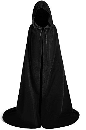 Bess Bridal Unisex Velvet Full Length Hooded Cape