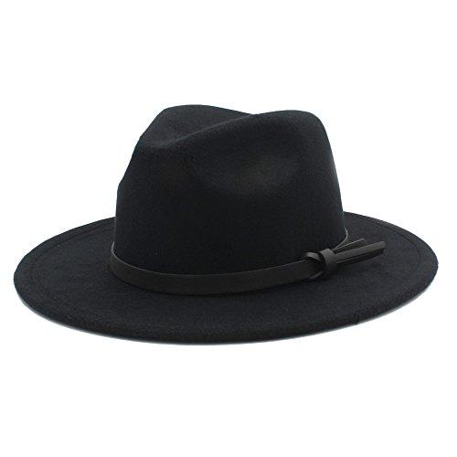 Battle Men Men's Fedora Hat Wide Brim with Leather Ribbon (Color : 11, Size : 57-58cm)