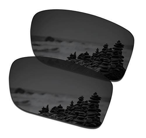 (SmartVLT Men's Stealth Black Replacement Lenses for Oakley Double Edge Sunglass)