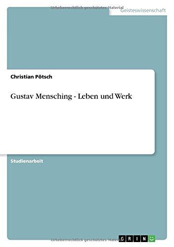 Gustav Mensching - Leben und Werk (German Edition) PDF