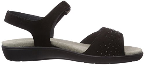 Semler Franka - sandalias de tacón con cierre al tobillo de cuero mujer negro - negro (001 negro)