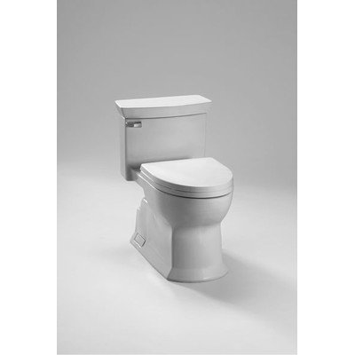 TOTO Eco Soiree Elongated One Piece Toilet with Chrome Plated Sanagloss