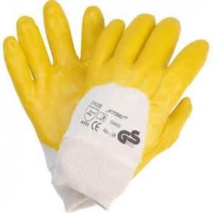 120 Paar NITRAS 03400 Nitrilhandschuhe gelb mit Strickbund Arbeitshandschuhe Gr.: 10