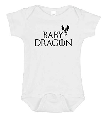 Baby Dragon Bodysuit (18 Months) White