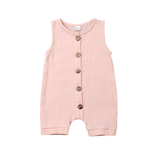 - Infant Newborn Baby Boys Girls Romper Bodysuit Jumpsuit Outfits Overalls Clothes 0-24 M (0-6 Months, Pink 2)