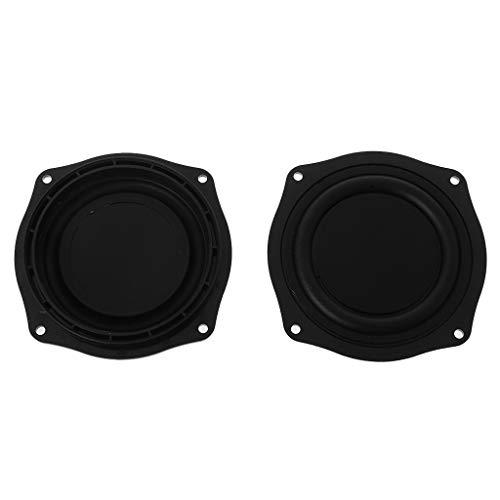 (GUINV 2PCS Bass Vibrating Membrane 4 Inch Loudspeaker Rubber Speaker Vibration Plate Diaphragm Passive Woofer Portable Home-Made DIY)