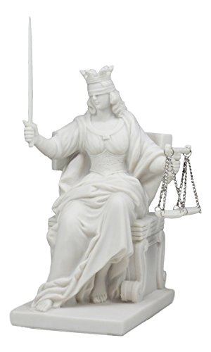 Ebros Seated Lady Of Justice Statue 9