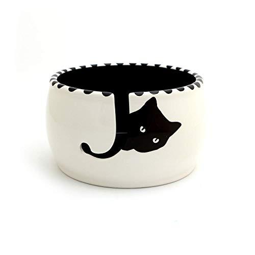 (Black Cat Knitting Yarn Bowl)
