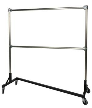Quality Fabricators Heavy Duty 5ft Z-Rack - Double Rail with 6ft Uprights (Silver/Black) (79