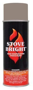 Stove Bright TI-8117 High Temperature Paint, 1200 Degree F Operating Temperature Range, 12 oz Aerosol, Almond (For Brick Wood Hearth Stove)